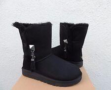 UGG SWAROVSKI BAILEY LILOU BLACK SUEDE/ SHEEPSKIN BOOTS, US 9/ EUR 40~NIB