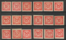 AUSTRIA 1920 - 21 POSTAGE DUE