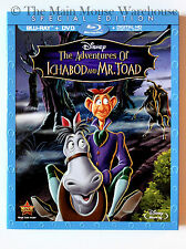 Disney Adventures of Icabod Ichabod and Mr. Toad Blu-ray DVD & Digital Copy Code