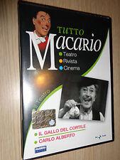 DVD TUTTO MACARIO IL GALLO DEL CORTILE CARLO ALBERTO IL TEATRO