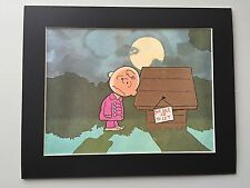 CHARLIE BROWN & SNOOPY~Mat Print~DOG HOUSE FOR SALE OR TO LET~NEW