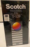 Scotch VHS Tape new sealed official Olympic sponsor mark tape EG 120 3M