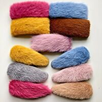 Big Fluffy/Furry Hair Clips Slides Hair Accessory Barrette Oversized/Large Fur