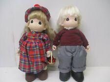 "1997 Pair Precious Moments Bill & Delaney 16"" Dolls"