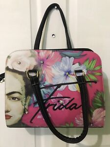 FRIDA KAHLO Bag purse Black Messenger Bag