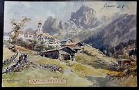 Lovely Early 1900's Welschnofen South Tyrol Italy Vintage Postcard