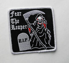 Grim Reaper Fear the Reaper Embroidered Patch 3 inches