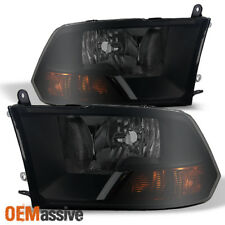 Fit 2009-2018 Dodge Ram 1500 12500 3500 Black Smoked Headlights Lamp Replacement