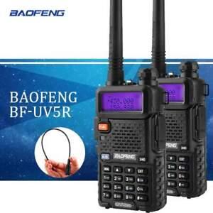 2 X BaoFeng UV-5R Émetteur / Récepteur Vhf / Uhf Double Bande Radio 136-174