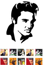 Elvis Presley Silhouette Edible A4 * ICING SHEET *  Plus 10 Album Cover Toppers
