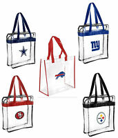NFL Football Clear Messenger Tote Bag Stadium Approved - Pick Team