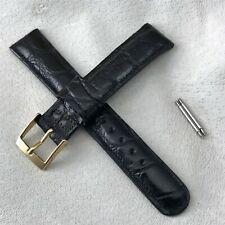 "nos 11/16"" Alligator Skin Single-Keeper Strap nos 1960s Vintage Watch Band"