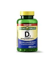New Vitamin D3 Softgels, 5000IU, 400ct Immune System and Health Spring Valley