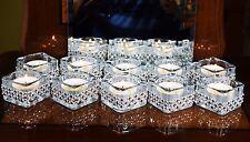 10 Pieces Diamante Copper Silver Tea Light Candle Holder Wedding Decor