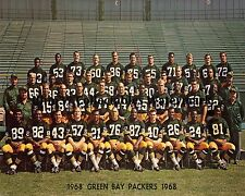 1968 GREEN BAY PACKERS NFL FOOTBALL TEAM 8X10 PHOTO