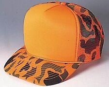 Orange Camouflage Trucker Hat mesh hat snap back hat Hunting hat
