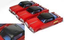 3 1967 Ideal Motorific 1/43 Barracuda Body Set Sweet Unused but Glue-Roof-Marks