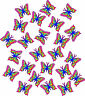 24 x Multicoloured Butterfly Car Van Stickers Decals #2
