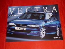 OPEL Vectra B i500 Caravan Prospektblatt Brochure Depliant Salessheet von 1998