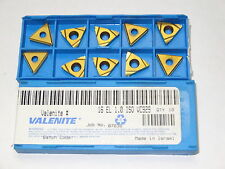 10 new VALENITE 16EL 1.0ISO VC929 Carbide coated Laydown Threading Inserts
