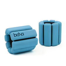 New Bala Bangles Weighted Wrist/Ankle Adjustable Weights Set 1lb Each Turquoise