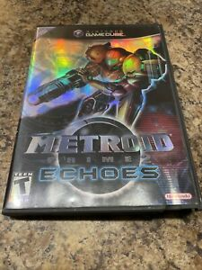 AUTHENTIC Metroid Prime 2 Echoes GameCube Case Only w/ Manual Inserts NO GAME