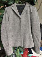 J Crew Women's Wool Campbell Gray Long Sleeve Jacket Blazer Button Up Medium M
