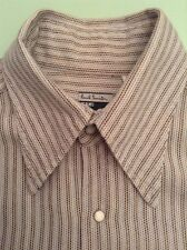 PAUL SMITH LONG SLEEVED RETRO SHIRT SIZE XL PEARL SNAP BUTTONS VGC MADE ENGLAND