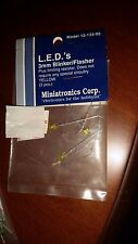Miniatronics LEDs 3mm Blinker / Flasher Yellow 3 pcs 12-133-03 NIP