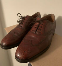 Silver Wing Bally Switzerland Mens Shoes Size 8D Burgundy Oxford Wingtip Lace Up