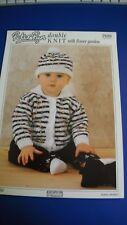 Peter Pan DK Baby Cardigan & Hat Knitting Pattern 689