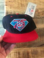 Nwt's VINTAGE NEW ERA NFL 1994 75th FOOTBALL DIAMOND ANNIVERSARY SEWN HAT Red