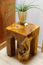 Teak Wurzelholz Beistelltisch Hocker Ständer Podest Tisch Blumensäule Edelholz