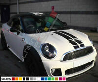 Stripe Sticker Decal for Mini Coupe R58 JCW Cooper S Mirror Bonnet roof trunk rs