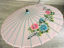 Pink Chinese Japanese Vietnamese Asian Umbrella Parasol Flowers Red Blue Blooms