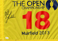 Phil Mickelson Signed 2013 British Open Championship Flag w/JSA LOA Y71106