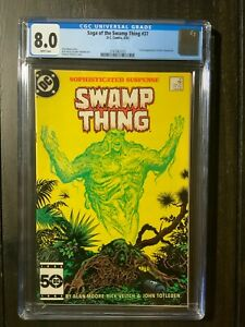 Saga of the Swamp Thing #37 CGC 8.0 VF first full appearance of Constantine!