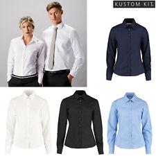 Kustom Kit Ladies Business Smart Work Blouse (K743F) - Long Sleeved Formal Shirt