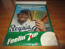 7up Winner's Choice Sweepstakes GEORGE BRETT Kansas City Royals Tear-Away Poster