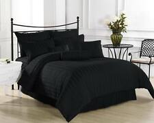 1200 Thread Count 100% Egyptian Cotton Bed Sheet Set OLYMPIC QUEEN Black Stripe