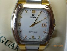 Jaguar Swiss made Gold & Stainless Quartz Wrist Watch parts or repair.