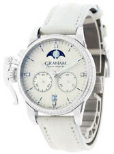 GRAHAM Chronofighter 1695 Lady Moon 36MM White Ladies Watch 2CXCS.S06A