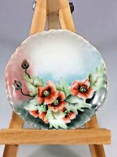"Antique Flowers Haviland Limoges Porcelain Hand Painted Plate France 3"" Rare"