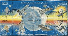USA 1981 SPACE ACHIEVEMENTS (Block 8) Very Fine Used SG 1886-1993