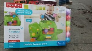 Fisher-Price DHW03 Double Poppin Dino - Green