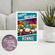 Personalised South Park Cartoon Gamer Birthday Card-A5 260gsm Gloss Finish V3