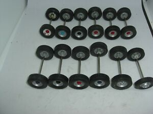 CORGI 1/50TH SCALE MODERN TRUCKS SPARES  12 PAIRS OF ASSORTED WHEELS WITH TYRES