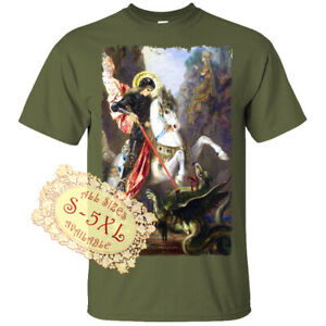 Saint Jerzy V22 Catolic Christian DTG T SHIRT All sizes S-5XL
