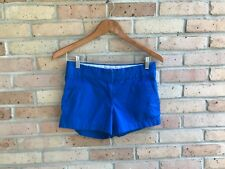 "J.Crew Womens Solid Blue Broken-In Chino 3"" Shorts - size 0 EUC FAST SHIP"