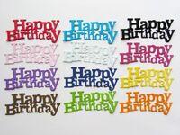 12 Découpes en papier _ HAPPY BIRTHDAY MIX 7,5cm _ Die cut scrapbooking carterie